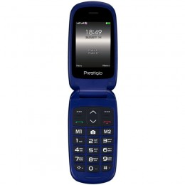 Сотовый телефон Prestigio Grace Blue B1, 2.4(240*320)2.5D display,Dual SIM, 32MB DDR. 32MB Flash,