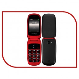 Сотовый телефон Prestigio Grace Red B1, 2.4(240*320)2.5D display,Dual SIM, 32MB DDR. 32MB Flash, 0