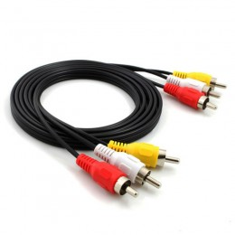 3RCA AV Cable Audio/Video/S 1500mm Black