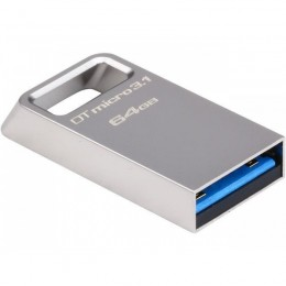 64GB  DTMicro USB 3.1/3.0 Type-A metal ultra-compact drive Kingston (K8DTMC364GB)