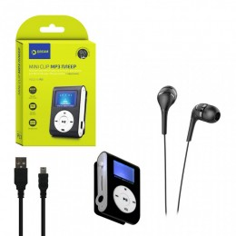 Mp3 Player DRM-PL1-01 MINI CLIP с дисплеем черный DREAM