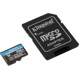 256GB карта памяти microSDXC Go Plus 170R A2 U3 V30 Kingston (K8SDCG3256GB)